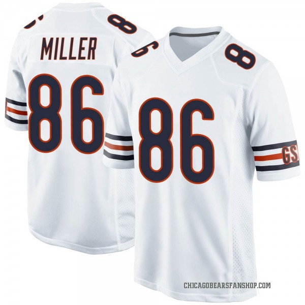 Youth Zach Miller Chicago Bears Game White 100th Season Jersey