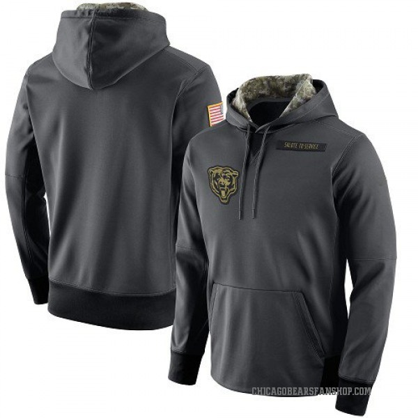 Chicago Bears Anthracite Salute to Service Player Performance Hoodie