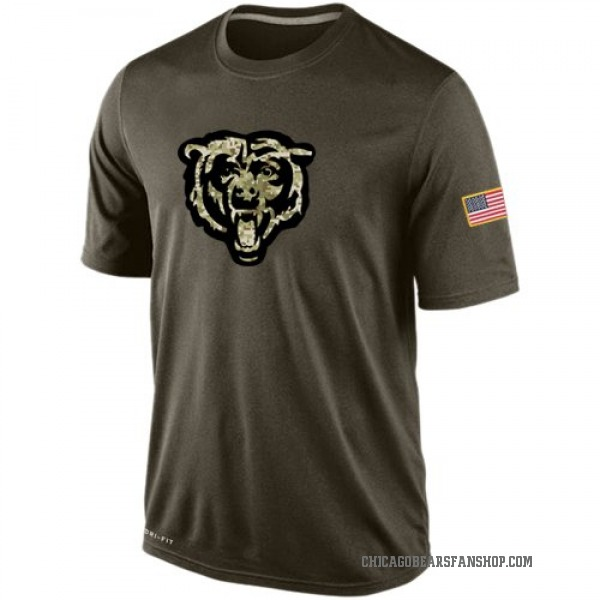 Chicago Bears Olive Salute To Service KO Performance Dri-FIT T-Shirt